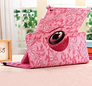 Fashion Grape Grain Rotation PU Full Body Case with Stand for iPad Air 2