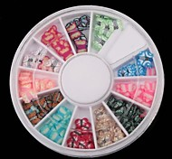 12 Color Butterfly Series Soft Pottery Turntable Nail Art Decoration