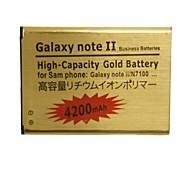 bateria recarregável substituição 3.7v 4200mAh para Samsung Galaxy Note II / N7100