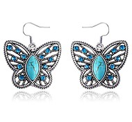 Butterfly Sapphire Diamond Earrings