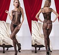 coupe sexy d'une seule pièce des femmes voir à travers les vêtements de nuit