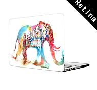 """Wasser bunte Elefantentwurf Vollschutzkunststoffgehäuse für 13 """"/ 15"""" MacBook-Pro mit Retina-Display"""