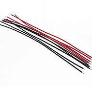 DIY 15cm Wire Cable Red+Black(20pcs)
