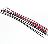 diy 15cm Draht-Kabel rot + schwarz (20pcs)