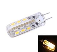 Bombillas LED de Mazorca T G4 2W 24 SMD 3014 90 LM Blanco Cálido DC 12 V 1 pieza
