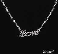 Eruner®Restoring Ancient Ways LOVE Alloy Necklace