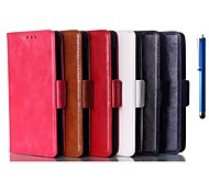 4.3 Inch Two Folding Pattern High Quality PU Wallet Leather Case with Pen for Nokia X2(Assorted Colors)