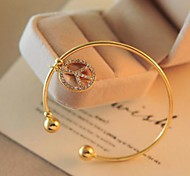 Fashion High Range Peace Golden Alloy Bracelets(1 Pc)