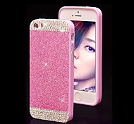 Solid Luxury Bling Glitter  Back Cover Case with Diamond for iPhone 4/4S(Assorted Colors)