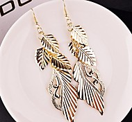 Fashion Multilevel Leaf Shape Alloy Drop Earrings(Golden,Silver)(1 Pair)