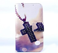 KARZEA™Cross Necklace Pattern PU Leather Case with Screen Protector and Stylus and Dust Plug for Motorola moto G
