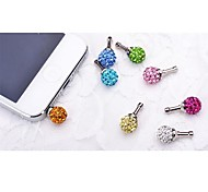 Rhinestone stars  Anti-dust Earphone Jack for iPhone/iPad and Others(Random Color)
