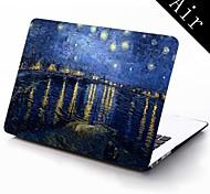 Sternenklare Nacht durch Vincent van Gogh-Design Ganzkörper-Schutz-Kunststoffgehäuse für 11-Zoll / 13 Zoll neue Mac Book Luft