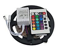 jiawen® 5m 300x3528 SMD RGB LED-Streifen mit 24key Fernsteuerung (12 V DC)