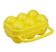 outdoors amarelo recipiente pp ovo por meia dúzia