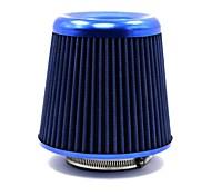 """Tirol alumínio universal rodada cônico de admissão de ar auto / 3 """"filtros de ar laváveis azul"""