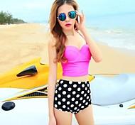 Women's Fashion Sexy Dot Push Up High waist Bikini Set Swimwear Swimsuit Beachwear