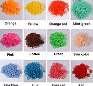 BaoGuang®300PCS Rainbow Color Loom Fashion Loom Rubber Band(12pcs Hook)