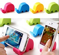 Elephant Shaped Universal Plastic Stand for Samsung iPhone Cellphone(Random Color)