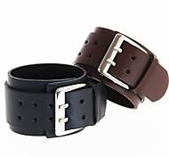 старинные кожаный браслет многоцветная панк-рок широкий кожаный браслет (ассорти цветов)