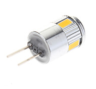 3W G4 LED Spotlight 6 SMD 5730 220 lm Warm White / Cool White AC 12 V 10 pcs