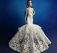 Barbie Doll Mermaid Style Wedding Dress