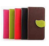 4.7 Inch Leaf Pattern PU Wallet Leather Case for LG L90 D405(Assorted Colors)