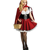 Innocent Little Red Riding Hood Red Polyester Women's Halloween Party Costume