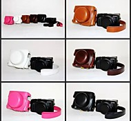 Dengpin Retro PU Leather Camera Protective Case Bag Cover with Shoulder Strap for Panasonic LUMIX LX100 DMC-LX100