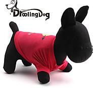 Cat / Dog Shirt / T-Shirt Red / Rose Spring/Fall Hearts