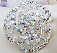 Fashion Rhinestone Flower Brooches Random Color