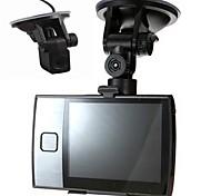 """3.5 """"120 grados cámaras duales coche de conducción 30fps grabación de ciclo versión registrador del dvr noche"""