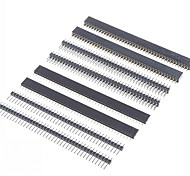 DIY 40-Pin 2.54mm Pitch Pin Headers 1 x 40P  2 x 40P (8 PCS)