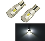 Carking™ T10-5630-6SMD LED Error Free Canbus Car Lamp-White Light