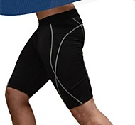 Men's Black Polyester Cycling Shorts/Pants Fitness Perspiration Wicking Shorts