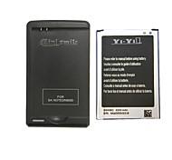 minismile ™ Ersatz 3200mAh Li-Ion Akku mit speziellen Ladegerät für Samsung-Galaxieanmerkung 3 / N9000 / n9005