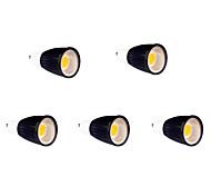 GU10 Lâmpadas de Foco de LED MR16 9 COB 700-750 lm Branco Quente AC 85-265 V 5 pçs