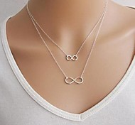 European Infinite Double Short Necklace