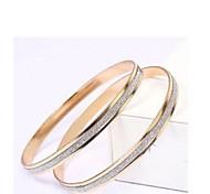 Fashion Top Grade Dull Polish Golden Alloy Bracelets(1 Pc)