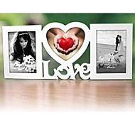 Personalized Framed Photo 6.5 And 7 Inches In One Love Design White Wooden Frame 3 Photos