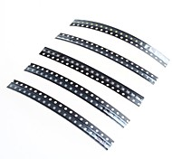 100pcs 0805 SMD LED SMD de 2.0x1.2mm - (verde + azul + blanco + amarillo + rojo)