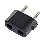 Adapter Plug US To EU LS142 US To EU Power Travel Plug Charger Adapter Black