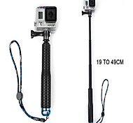 tmc handheld pólo monopé extensível com parafuso para GoPro Hero 4/3 + / 3/2, comprimento máximo: 49 centímetros