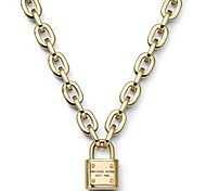 Fashion Lock Pendant Multicolor Stainless Steel Pendant Necklace(More Color)(1 Pc)