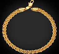 Men's 18K Chunky Gold Plated Choker  Bracelet Bangle Chain High Quality