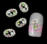 10pcs  Stick Rhinestone Line Of Oval Alloy Accessories Nail Art Decoration