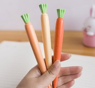 Carrot Shaped Black Ink Gel Pen(1 PCS)