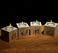 European Style Simplicity Wooden Candle Holder