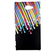Colorful Meteor Shower Pattern Oil Coated PC Hard Back Cover Case for Sony Xperia M2 D2303 D2305 D2306