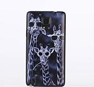 Giraffenmuster PC harter Kasten für Samsung-Galaxieanmerkung 4